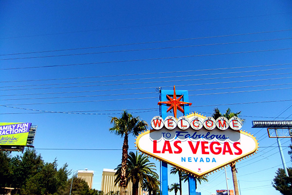 Welcome to fabulous Las Vegas Nevada, photo James Cridland CC BY 2.0
